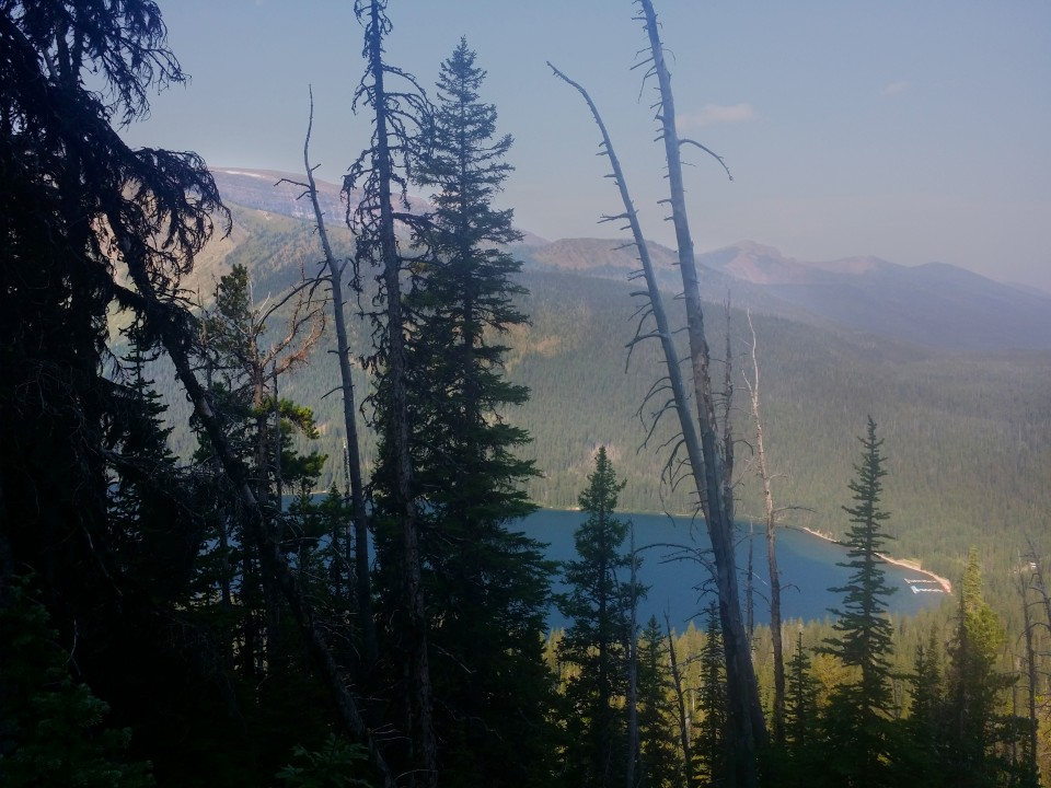 View of Cameron lake