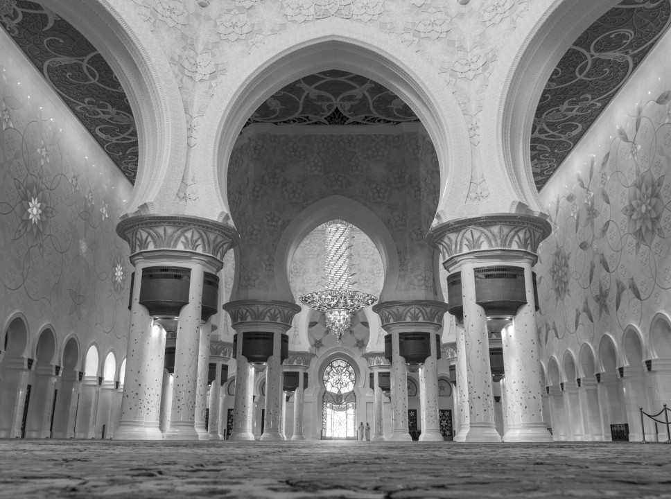 The carpet in the main prayer hall is considered to be the world's largest carpet