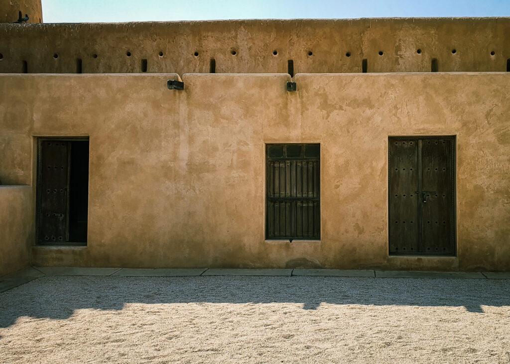Zubarah fort interior walls